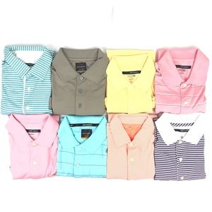 Lot of 8 Greg Norman Polo Golf Shirts Size S